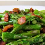 lemony asparagus with bacon side dish pinterest image