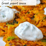 sweet potato latkes pinterest graphic