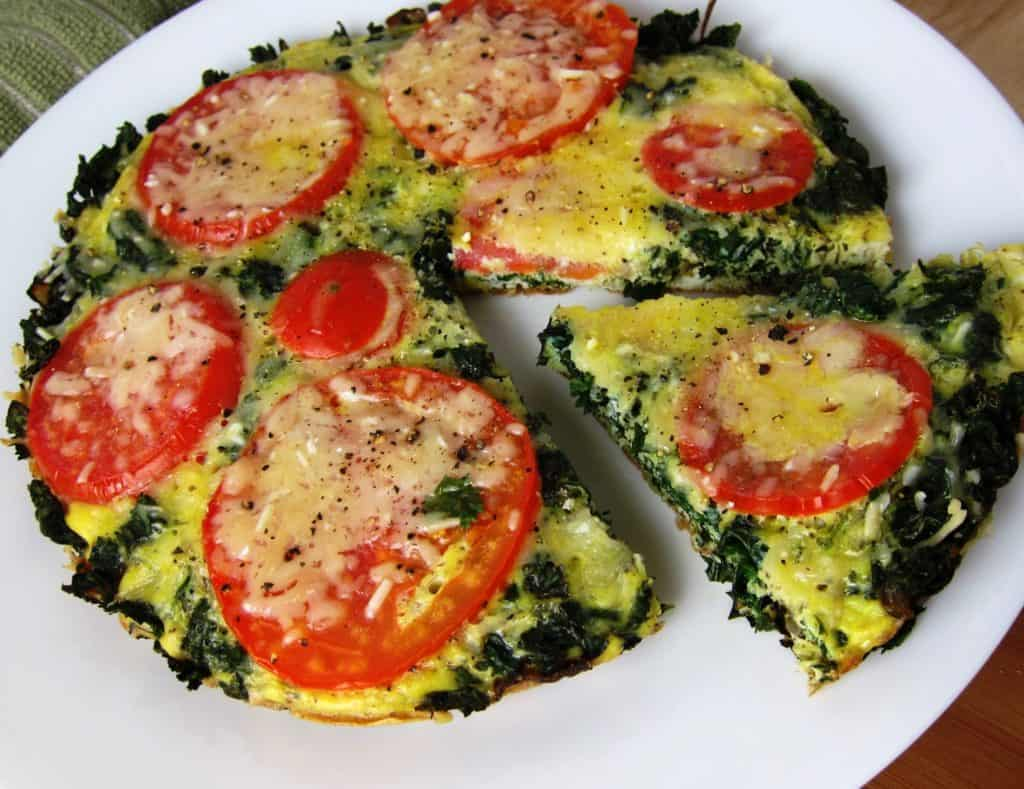 veggie loaded no bake frittata