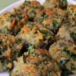 cheddar herb stuffed mushrooms pinterest image