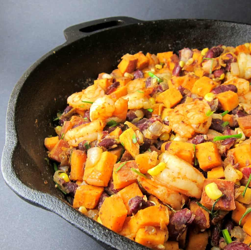 cajun shrimp sweet potato