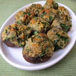 Cheddar Herb Stuffed Mushrooms