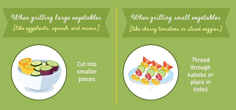 how to cut vegetables for the grill