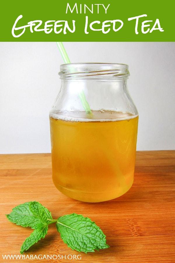 minty green iced tea
