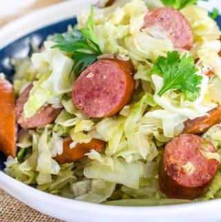 fried cabbage and kielbasa recipe