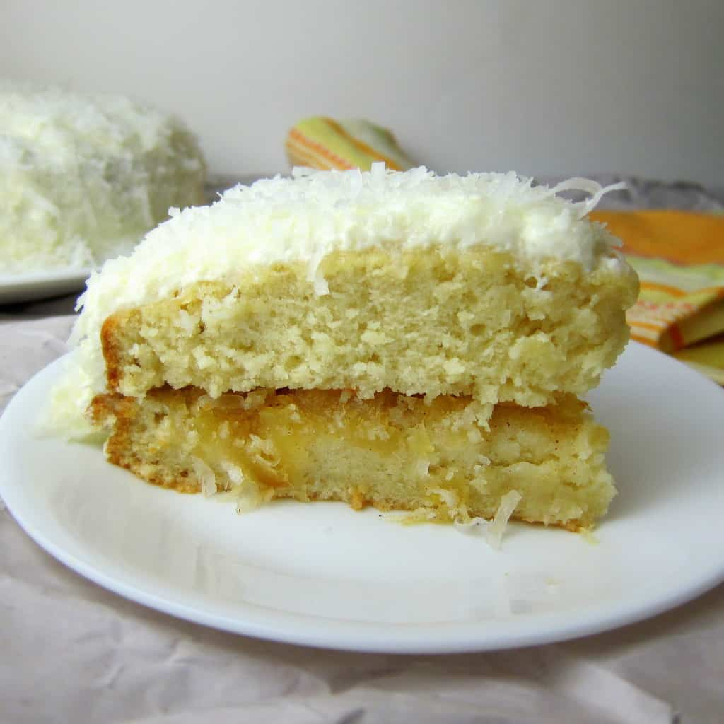 Coconut Cake with Pineapple
