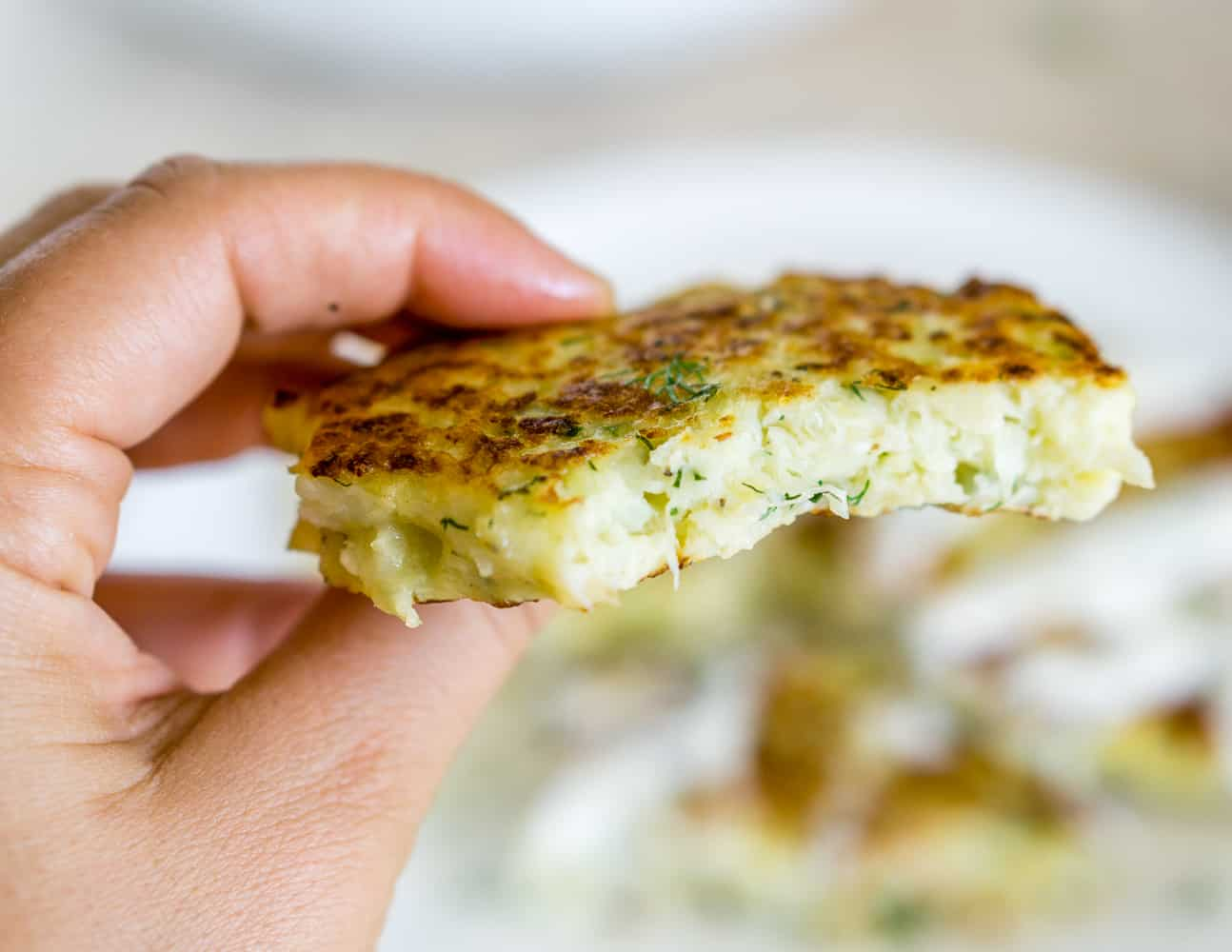 image of crispy cauliflower fritter