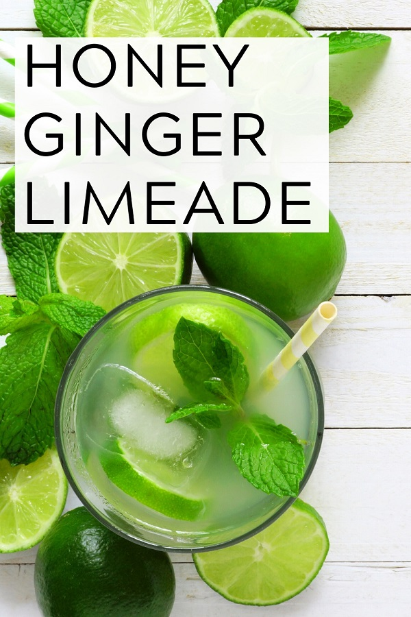 honey ginger limeade pinterest graphic