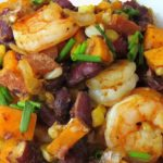 sweet potato Cajun shrimp pin