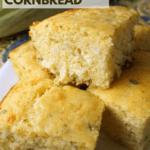 sweet and savory cheddar sage cornbread