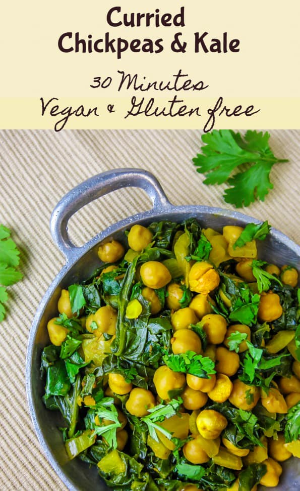 Curried Chickpeas and Kale Pinterest Image