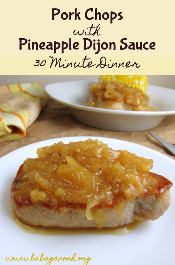 Pineapple Pork Chops Pinterest Image