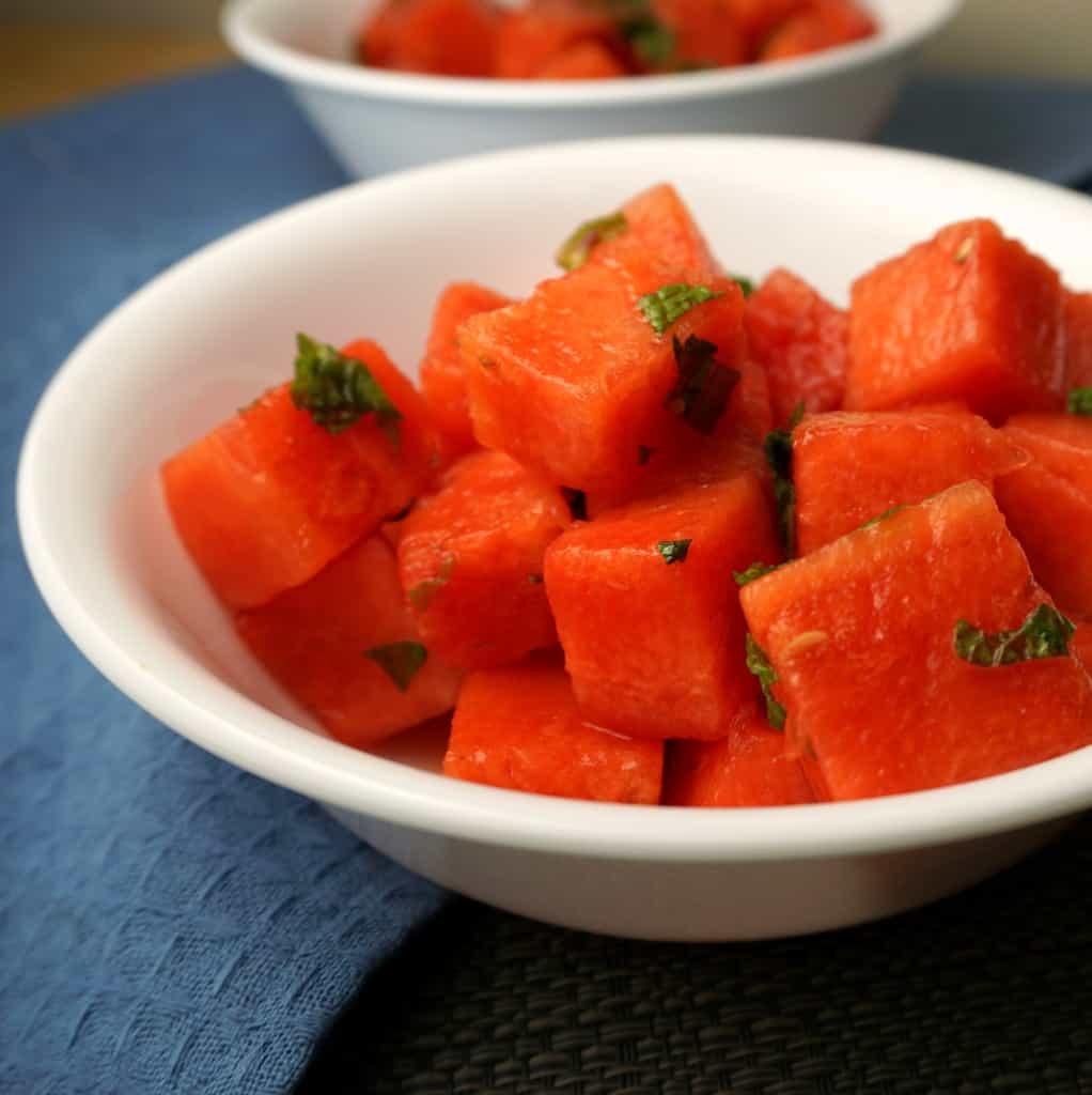 Watermelon Salad with Honey Lime Dressing