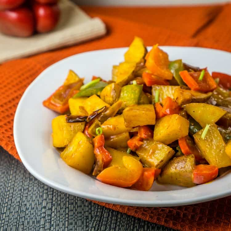 Potato and Bell Pepper Hash