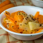 Daikon Carrot Salad in a sesame ginger dressing. From www.www.babaganosh.org