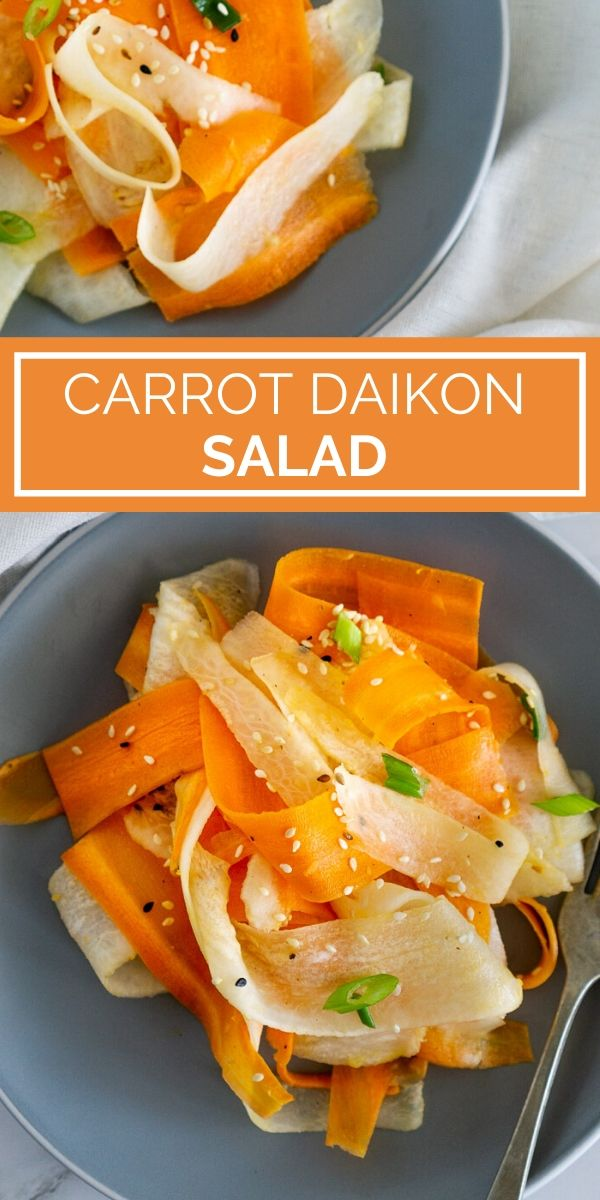 carrot daikon salad pinterest graphic