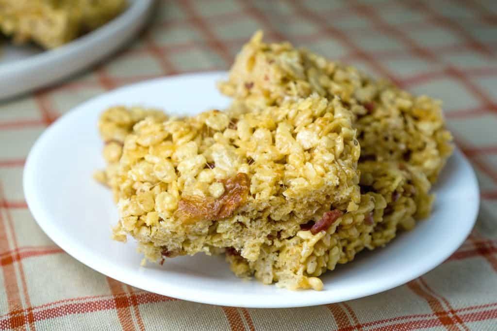 peanut butter bacon rice krispies treats