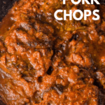 image of cajun pork chops in tomato sauce
