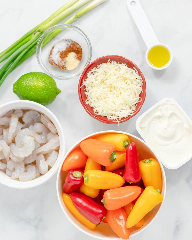 ingredients for shrimp rangoon mini peppers