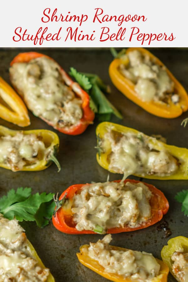 shrimp rangoon stuffed mini bell peppers appetizer pinterest image