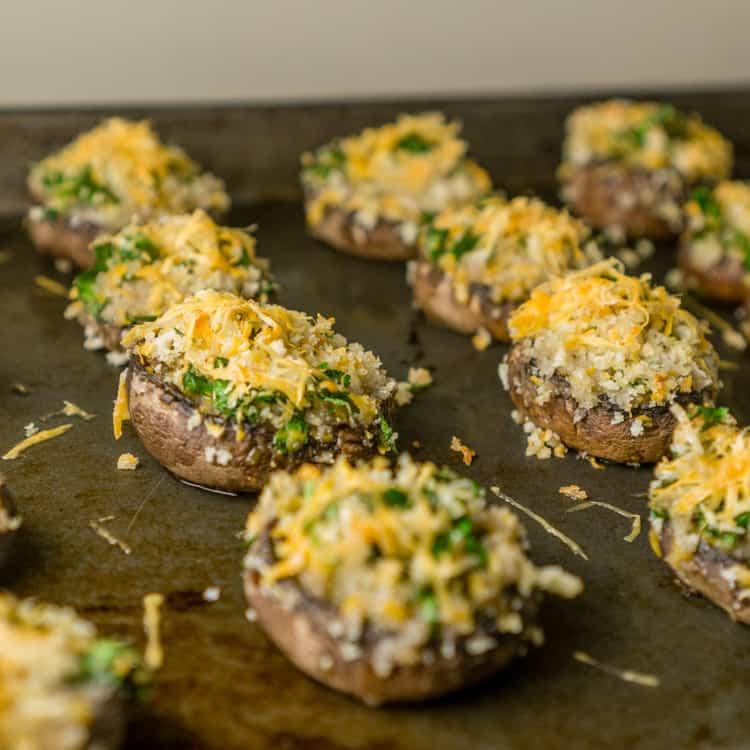 mimolette stuffed mushrooms