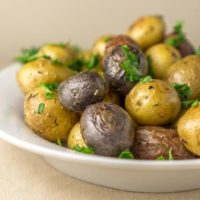 Roasted Young Potatoes with Herbs