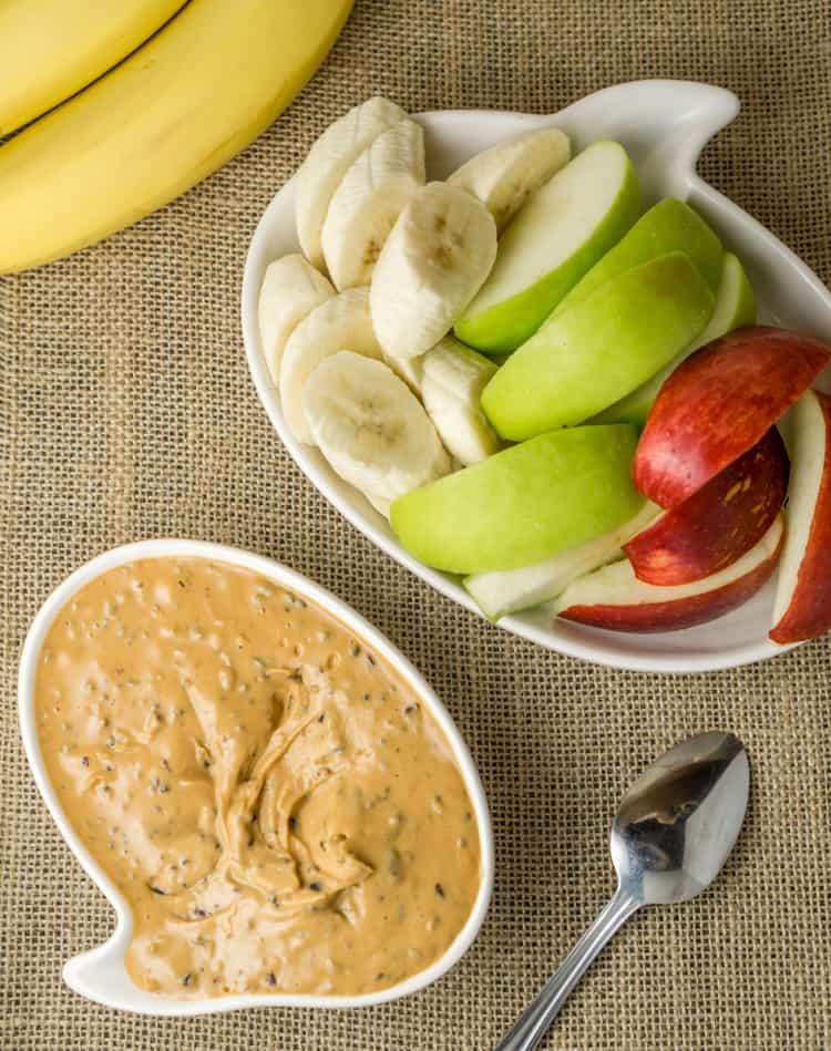 healthy peanut butter fruit dip