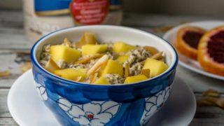 Mango Coconut Tropical Oatmeal