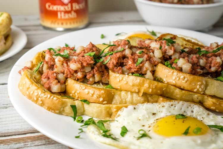 Savory French Toast with Corned Beef Hash