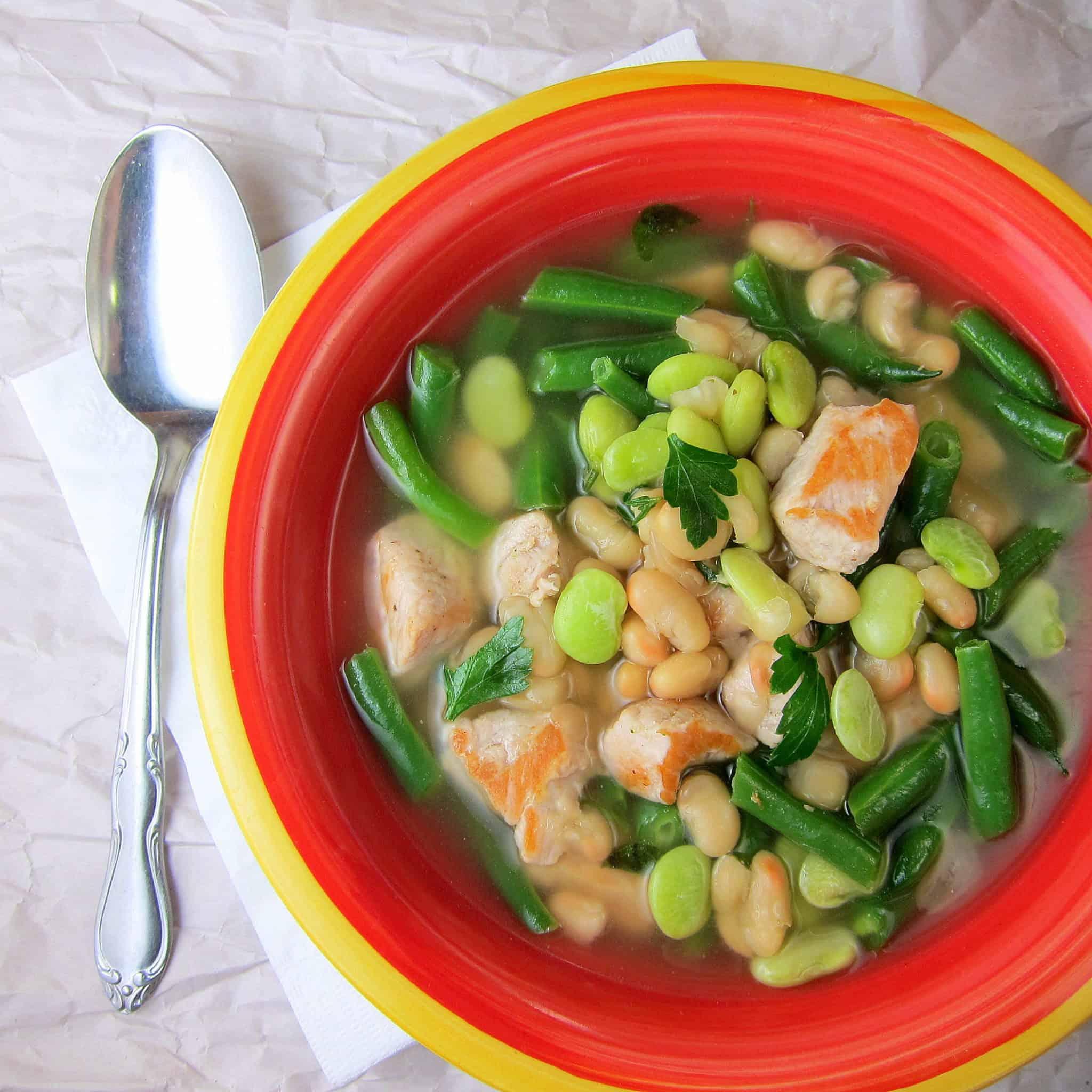 Pork three-bean soup