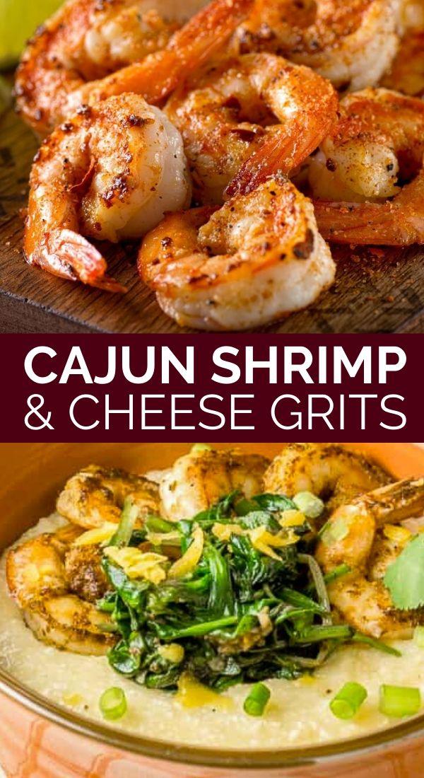 cajun shrimp cheesy grits pinterest graphic