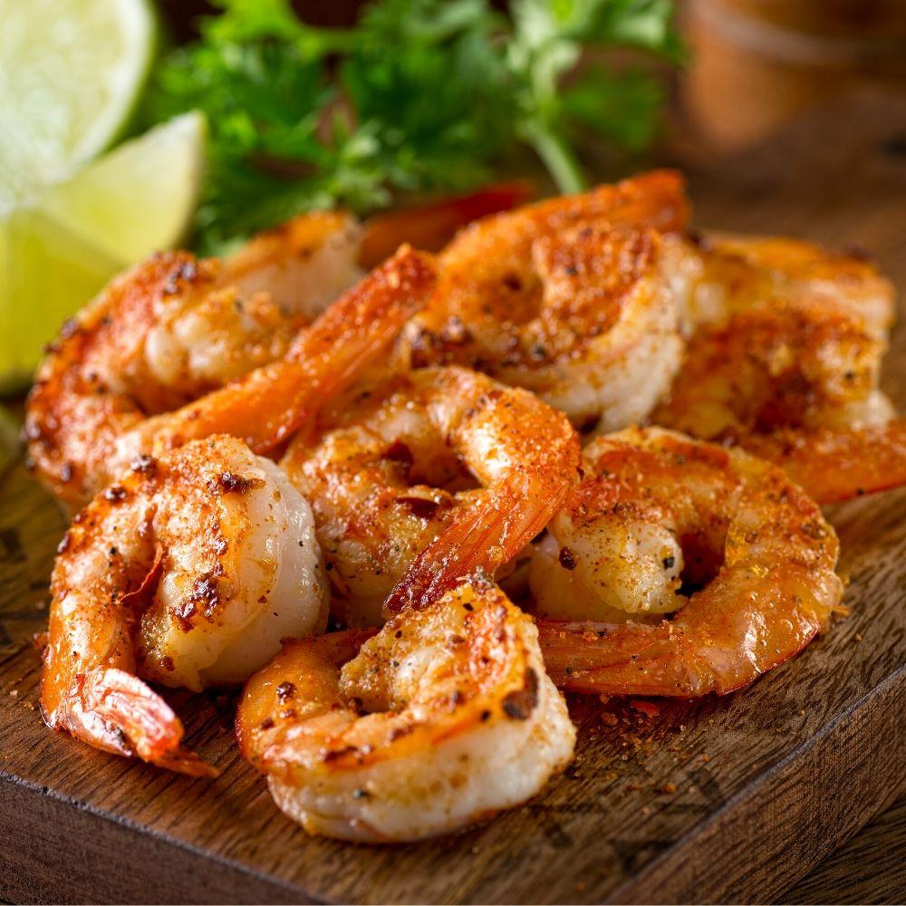 cooked cajun shrimp