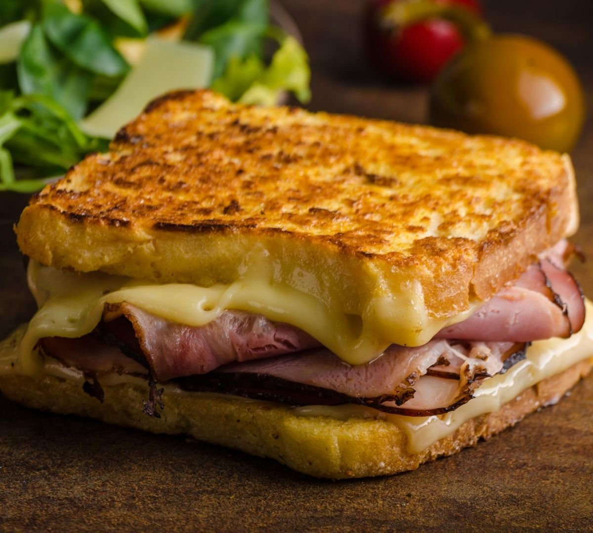 French toast ham and cheese grilled cheese