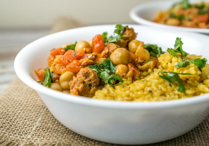 chickpeas and chorizo