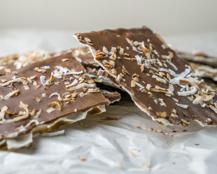 toasted coconut chocolate matza