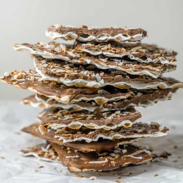 toasted coconut chocolate matza