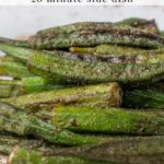 roasted cajun okra - pinterest graphic