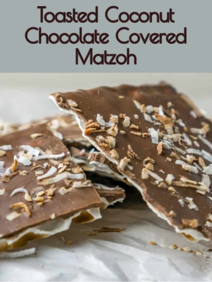 Coconut Chocolate Covered Matzoh