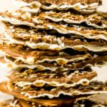 stack of chocolate covered matzo easy passover dessert