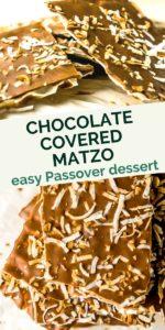 chocolate covered matzo easy passover dessert graphic