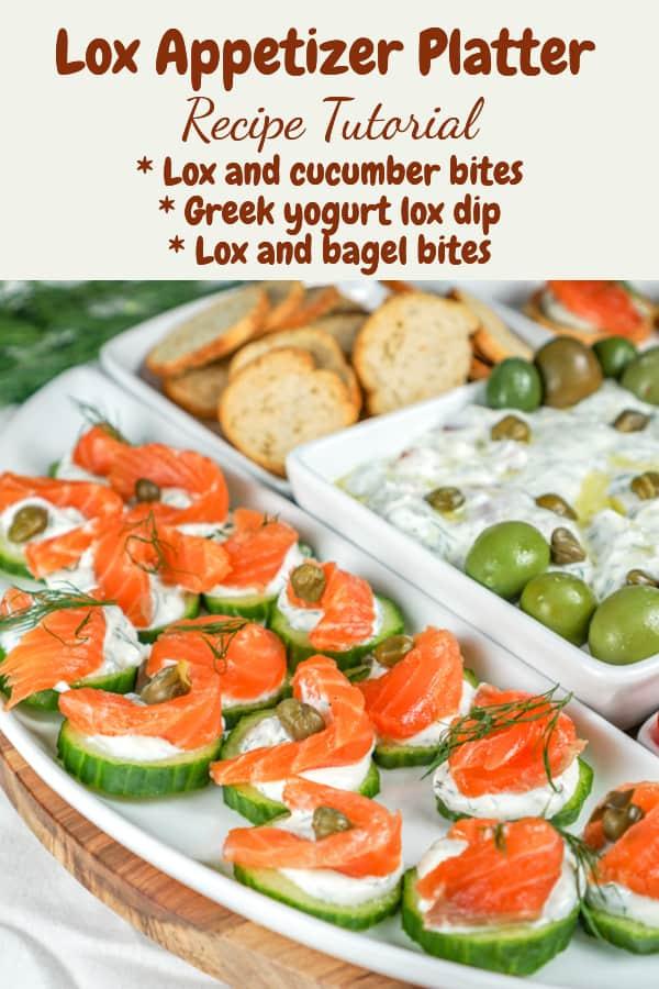 lox appetizer platter - pinterest image