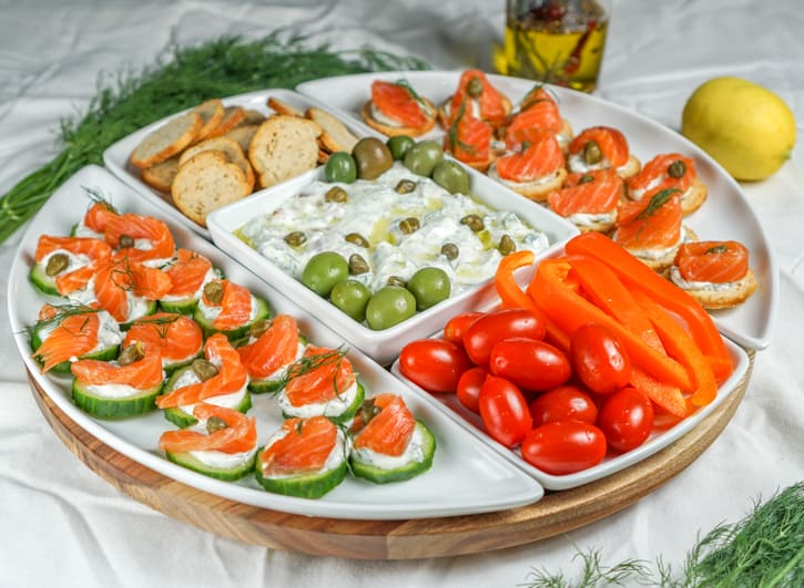 Lox Appetizer Platter + Homemade Lox Recipe
