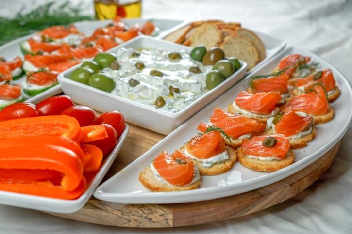 Lox Appetizer Platter