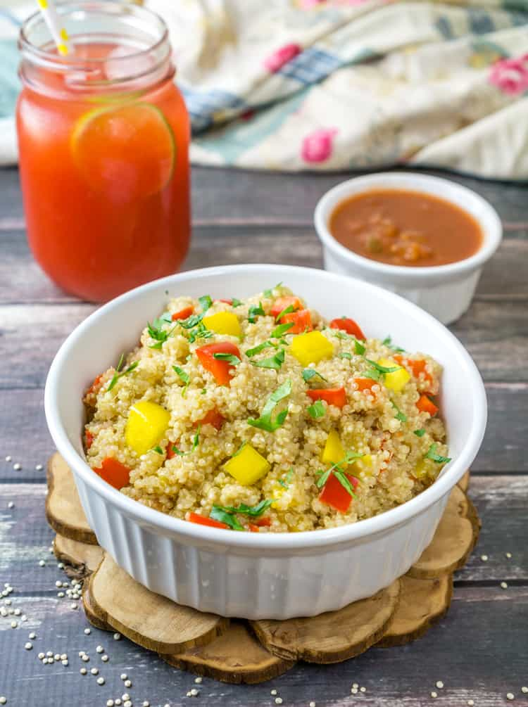 Quinoa & Pepper Pilaf is the perfect summer dish that is ready in under 30 minutes!