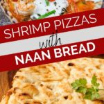 shrimp naan pizzas pinterest graphic