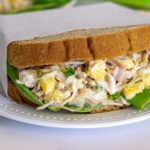 hawaiian chicken salad with pineapple sandwich