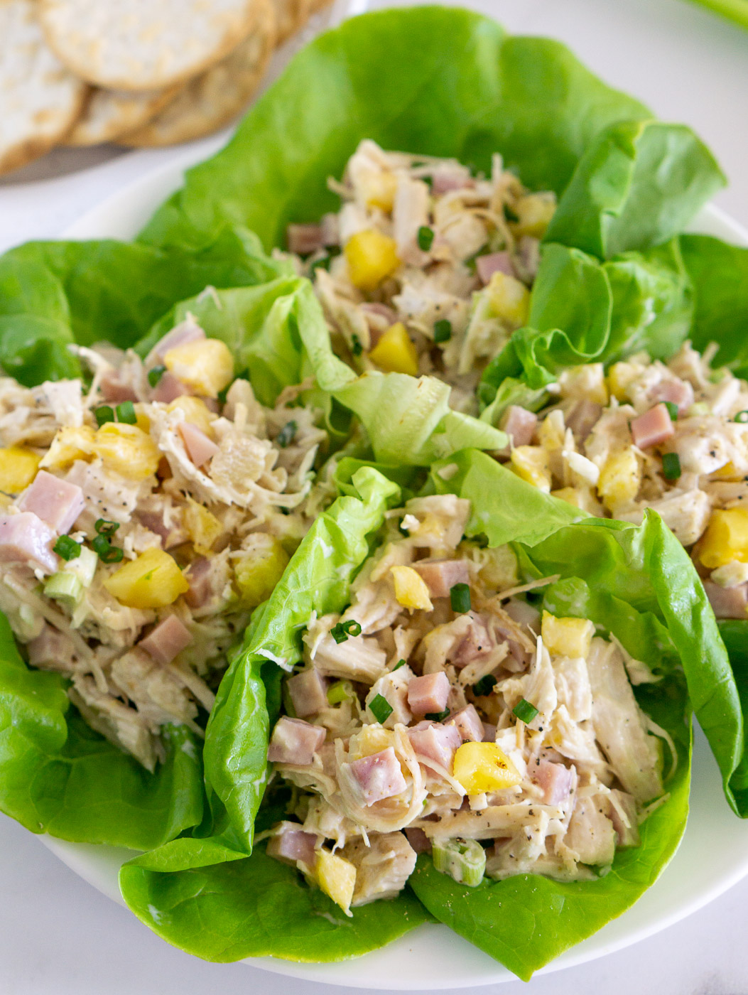 hawaiian chicken salad lettuce wraps
