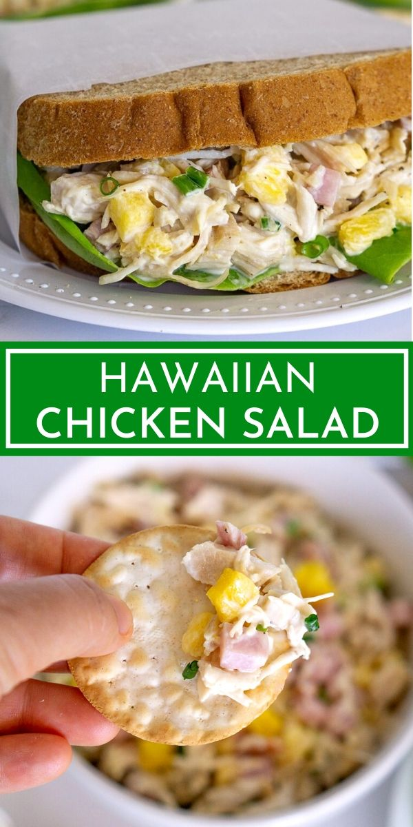 hawaiian chicken salad pinterest graphic