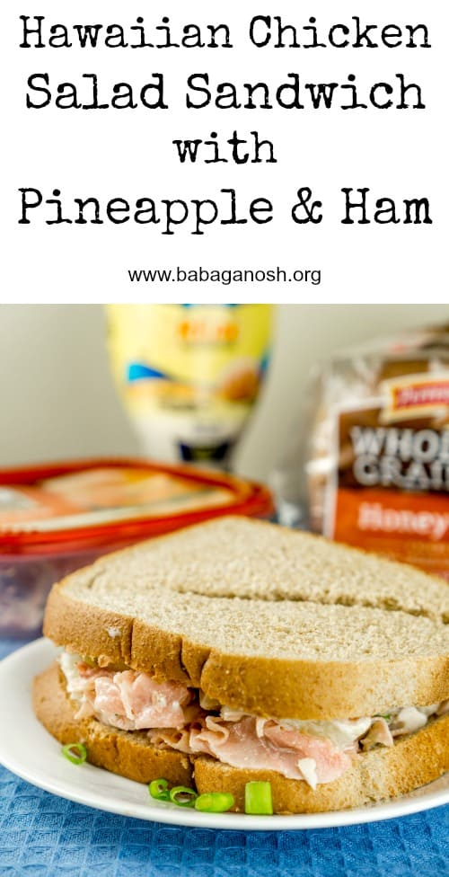 This delicious Hawaiian Chicken Salad Sandwich with pineapple and honey ham is made in 5 minutes using only 6 ingredients and will be a family favorite in no time! From http://www/www.babaganosh.org