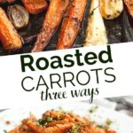roasted carrots pinterest graphic